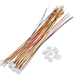 excellway 10 sets mini micro jst 1 5mm zh 4 pin connector plug with wires cables 150mm cod [ 1200 x 1200 Pixel ]
