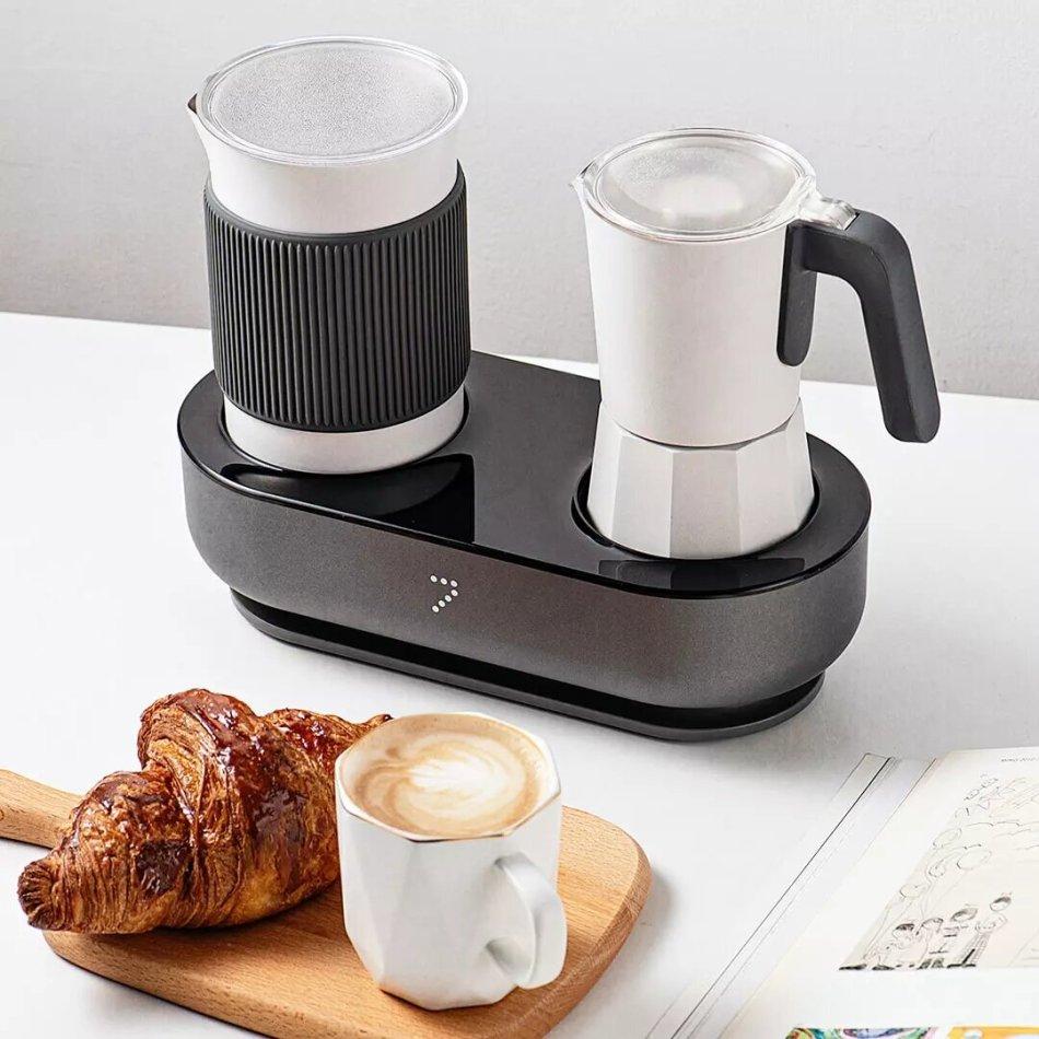 Seven & Me CM142 Smart Coffee Machine with Auto Milk Frother One-Click Control Coffee Maker Make Coffee Espresso in 3 Mins