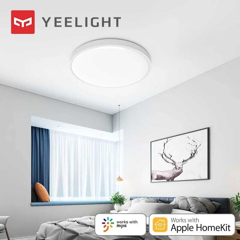 Yeelight XianYu C2001C550 50W AC220V Smart Ceiling Light Pure White Edition Bluetooth Remote APP Voice Control Intelligent Lamp Works With Homekit ( Ecological Chain Brand)