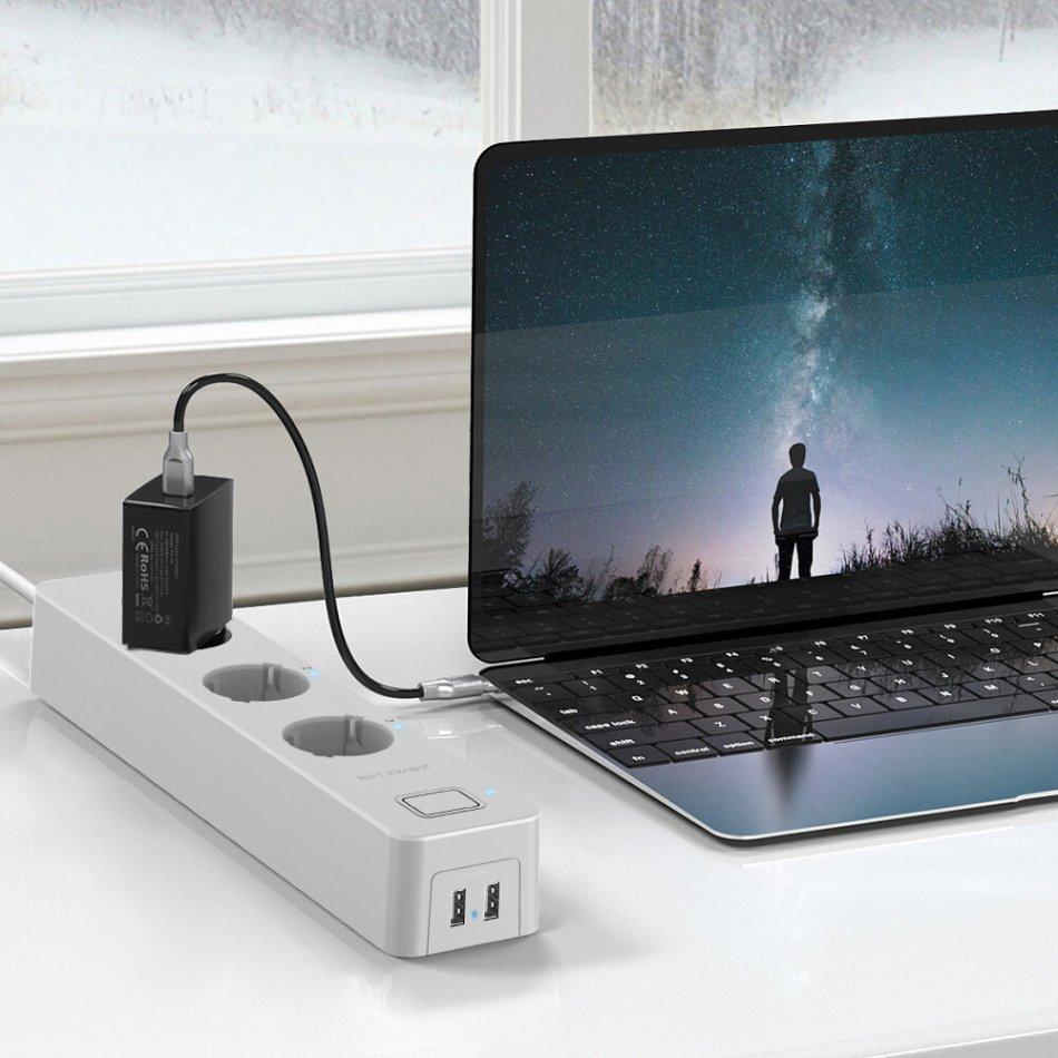BlitzWolf® BW-SHP9 3300W 15A 3 Socket Dual USB Slot Smart Power Strip EU Plug APP Remote Control Timer Work with Amazon Alexa Google Home Voice Control System