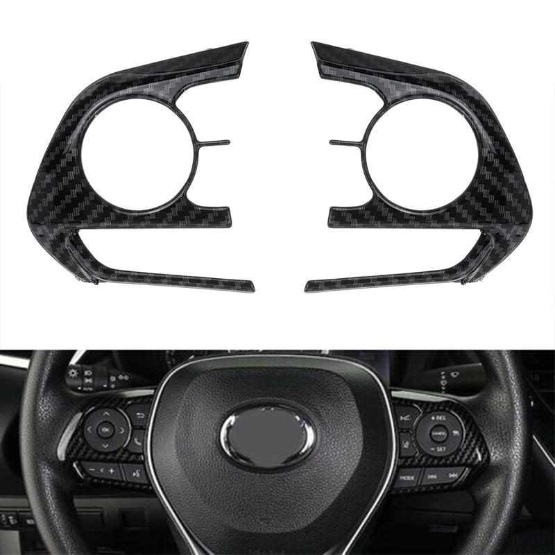 3pcs steering wheel sticker trim for toyota corolla 2019