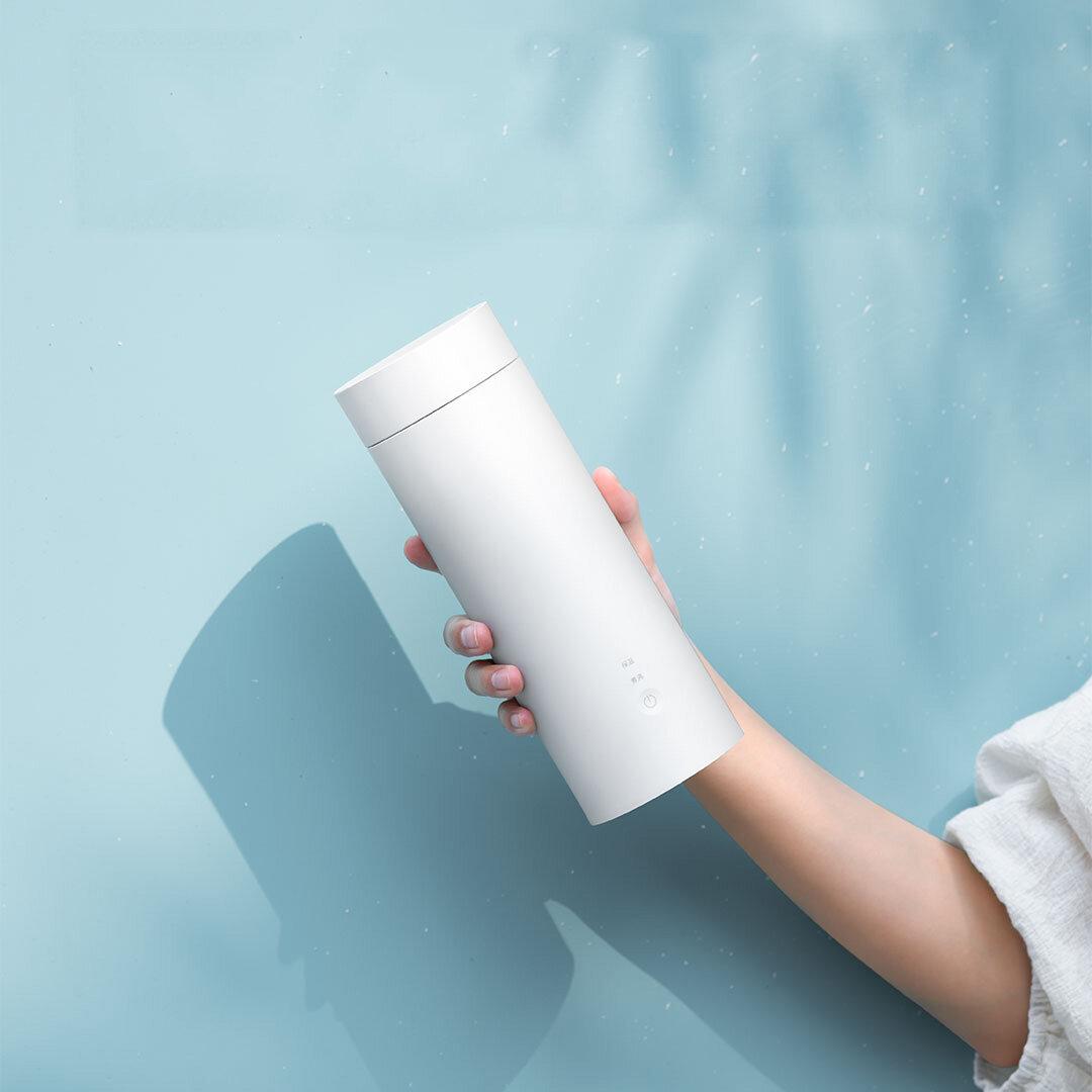 Ευρωπαϊκή αποθήκη | VIOMI YM K0401 400ML or 300W Portable Electric Heating Bottle For Travel Stainless Steel Water Bottle Intelligent Temperature Control From