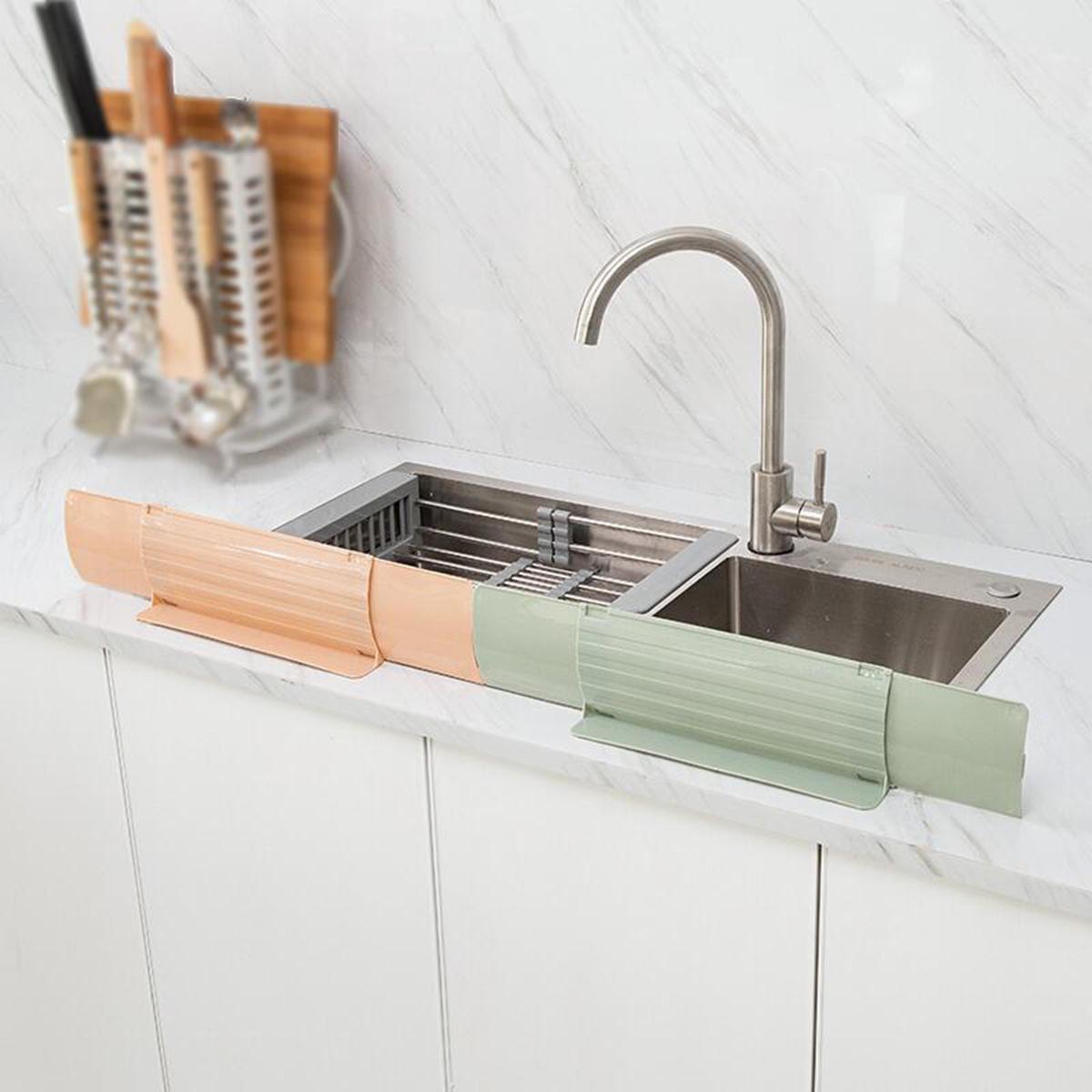 retractable kitchen sink water splash