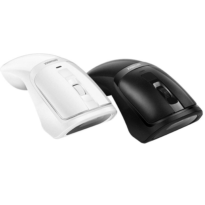 Datamax M3 2 in 1 Wireless Mouse Scanner 1D 2D Barcode Scanner QR Code Scanner Ergonomic Mouse Scanning Machine for Supermakets Shops Payment - Black