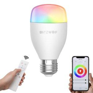 Στα €16.31 από αποθήκη Κίνας | BlitzWolf BW LT27 AC100 240V RGBWW+CW 9W E27 APP Smart LED Bulb Work With Alexa Google Assistant + IR Remote Control