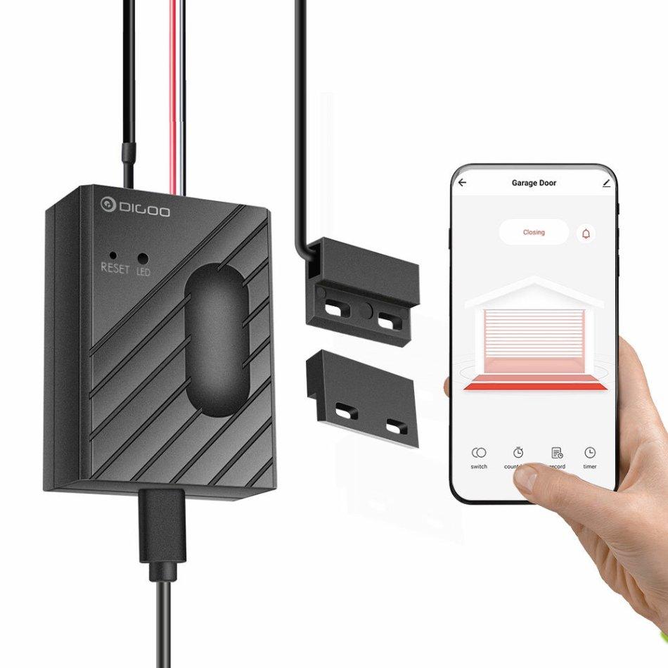 DIGOO DG-CK400 Garage Door Motor WiFi Smart Controller Sensor APP Remote Control Timing Switch Work With Tuya Amazon Alexa Google Home