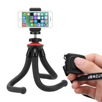 BlitzWolf® BW-BS7 Multi-angle Rotation Bluetooth Octopus Tripod Selfie Stick