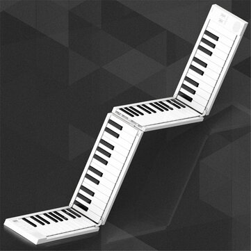Fodable Piano 88 Keys Folding Keyboard Piano Support Headphone Output Portable Hand-rolled Piano for Beginner Student