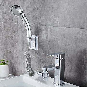 bathroom wash face basin water tap external shower head handheld bidet sprayer wash jet diverter kit set