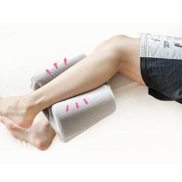 sleep foam pillow yoga leg pillow back sleepers side sleepers ergonomically designed down alternative between under pillow for knee support