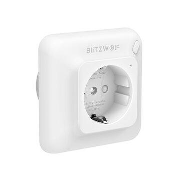 Ευρωπαϊκή αποθήκη | BlitzWolf® BW-SHP8 3680W 16A Smart WIFI Wall Outlet EU Plug Socket Timer Remote Control Power Monitor Work with Alexa Google Assistant IFTTT