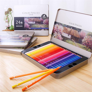 XIAOMI Ecosystem Deli 72 Colors Oily Color Pencil Set Soft Core Crayons Painting Drawing Sketching Colored Pencils Painting Supplies