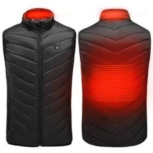 Χειμώνας προ των πυλών.. Σκέψουν «ζεστα» με το θερμενόμενο Jacket | TENGOO Unisex 3-Gears Heated Jackets USB Electric Thermal Clothing 2 Places Heating Winter Warm Vest Outdoor Heat Coat Clothing