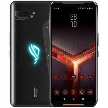 £752.01 32% ASUS ROG Phone 2 6.59 Inch FHD+ 6000mAh Android 9.0 NFC 12MP + 13MP Rear Camera 8GB RAM 128GB ROM USF 3.0 Snapdragon 855 Plus Octa Core 2.96GHz 4G Gaming Smartphone Smartphones from Mobile Phones & Accessories on banggood.com