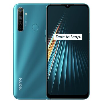 Realme 5i Global Version 6.5 inch HD+ 5000mAh Android 9.0 12MP AI Quad Rear Cameras 3-Card Shot 4GB RAM 64GB ROM Snapdragon 665 AIE Octa Core 4G Smartphone