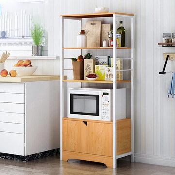 kitchen storage cabinet microwave dishes utensils 3 shelf 4 shelves rack
