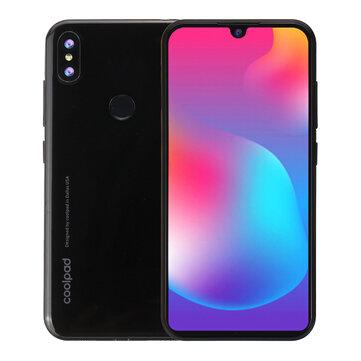 Coolpad N5 Lite Global Version 5.71 Inch HD+ Waterdrop Display Android 9.0 3000mAh Face Unlock 4GB RAM 64GB ROM Helio A22 2.0GHz 4G Smartphone