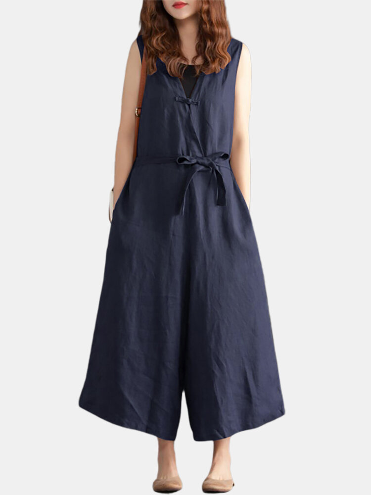 Best Women V-neck Belted FlareOveralls Jumpsuits You Can Buy