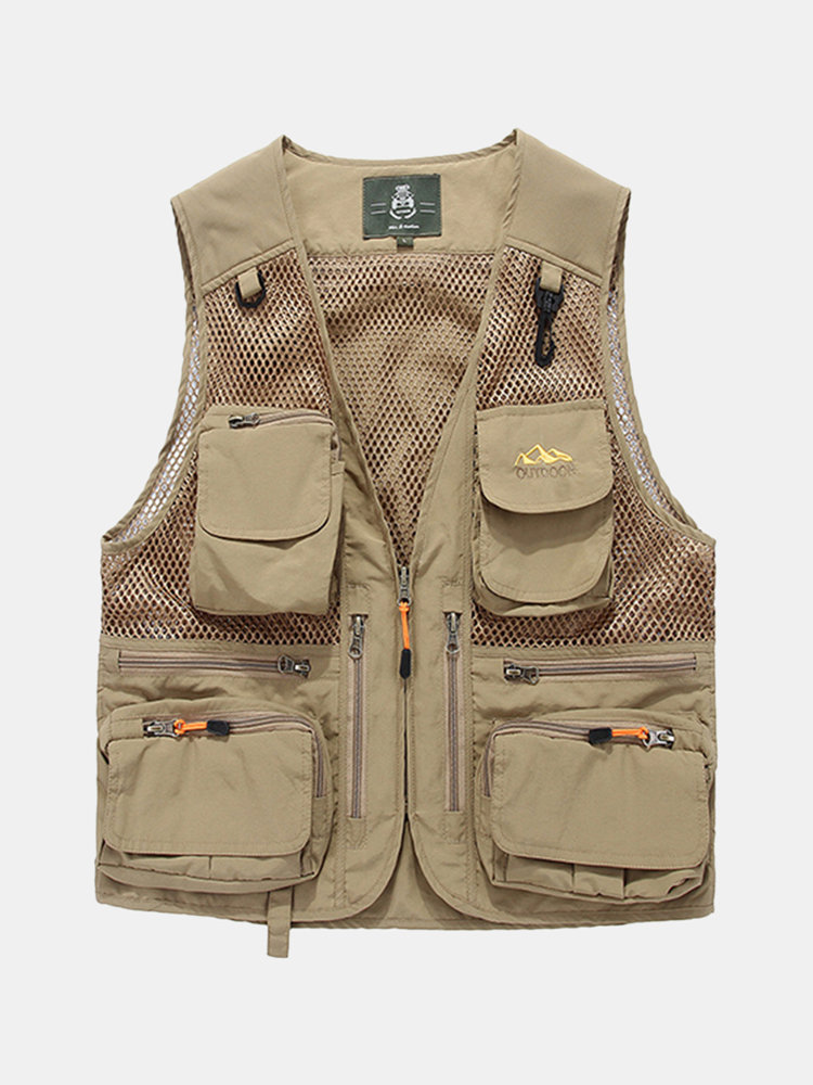 Best Outdoor Fishing Reporter Photography Loose Multi Poctets Vest for Men You Can Buy