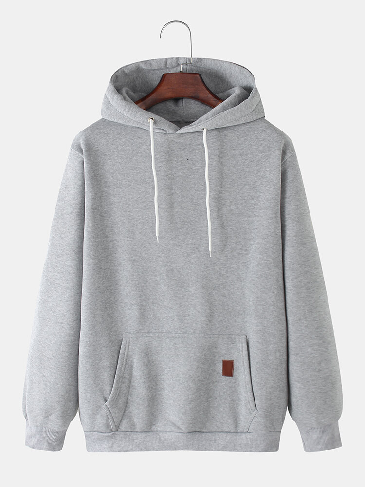 Best Mens Solid Color Plain Casual Drawstring Hoodies With Pouch Pocket You Can Buy