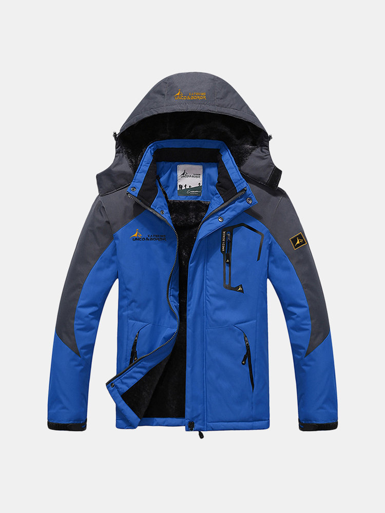Best Plus Size Outdoor Water Resistant Skiing Climbing Thicken Warm Windproof Jacket for Men You Can Buy