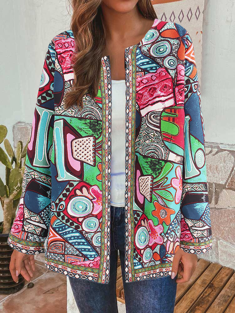 Best Ethnic Style Floral Print Vintage Plus Size Cotton Jackets You Can Buy