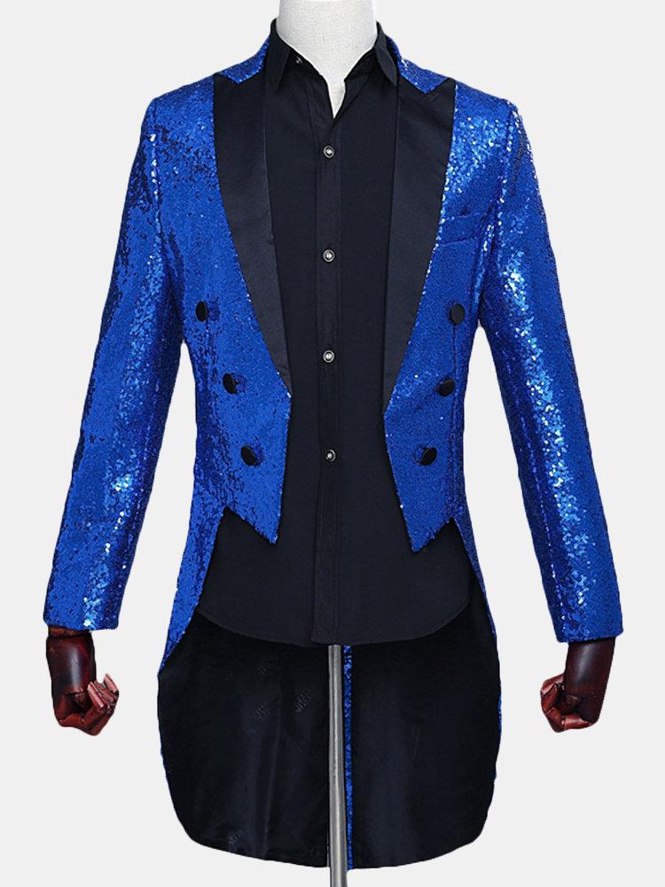 Best Sequin Tuxedo Magic Show Blazer for Men You Can Buy