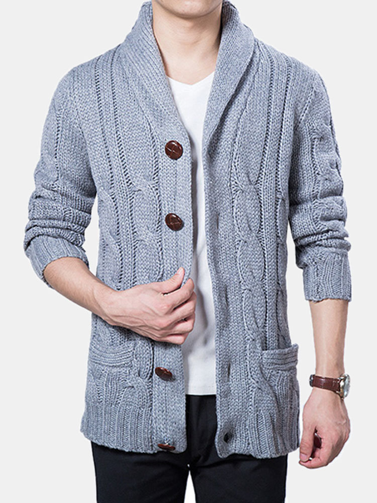 Best Mens Winter Warm Thick Sweater Coat Single Breasted Knitted Casual Cardigans You Can Buy