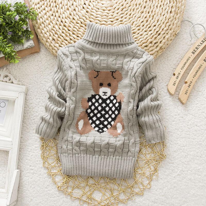Best Cartoon Girls Turtleneck Sweater Kids Long Sleeve Knitwear For 2Y-11Y You Can Buy