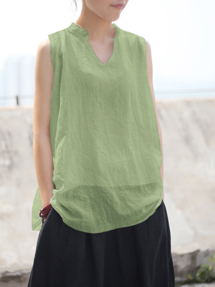 Best Casual Solid Color Sleeveless Plus Size Tank Top You Can Buy