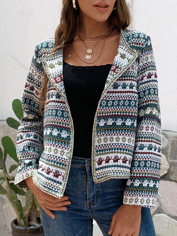 Best Vintage Print Plus Size Short Jackets for Women You Can Buy