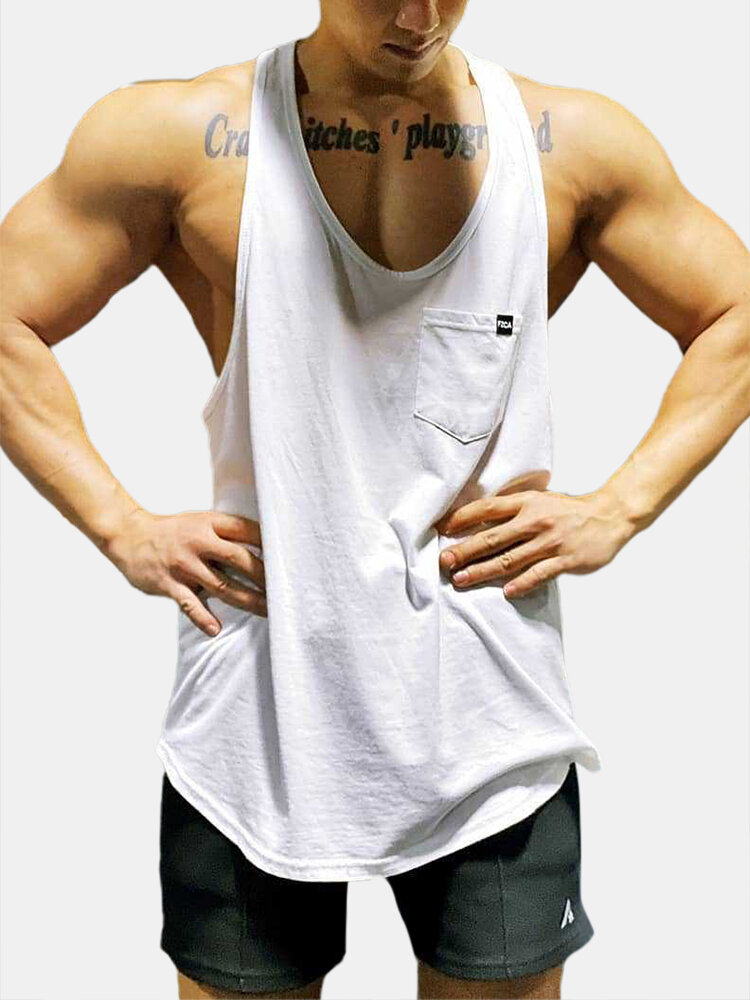 Best Soft Solid Color Vest Quick Drying Loose Fitting Sleeveless Muscle Athletic Gym Tank Tops You Can Buy