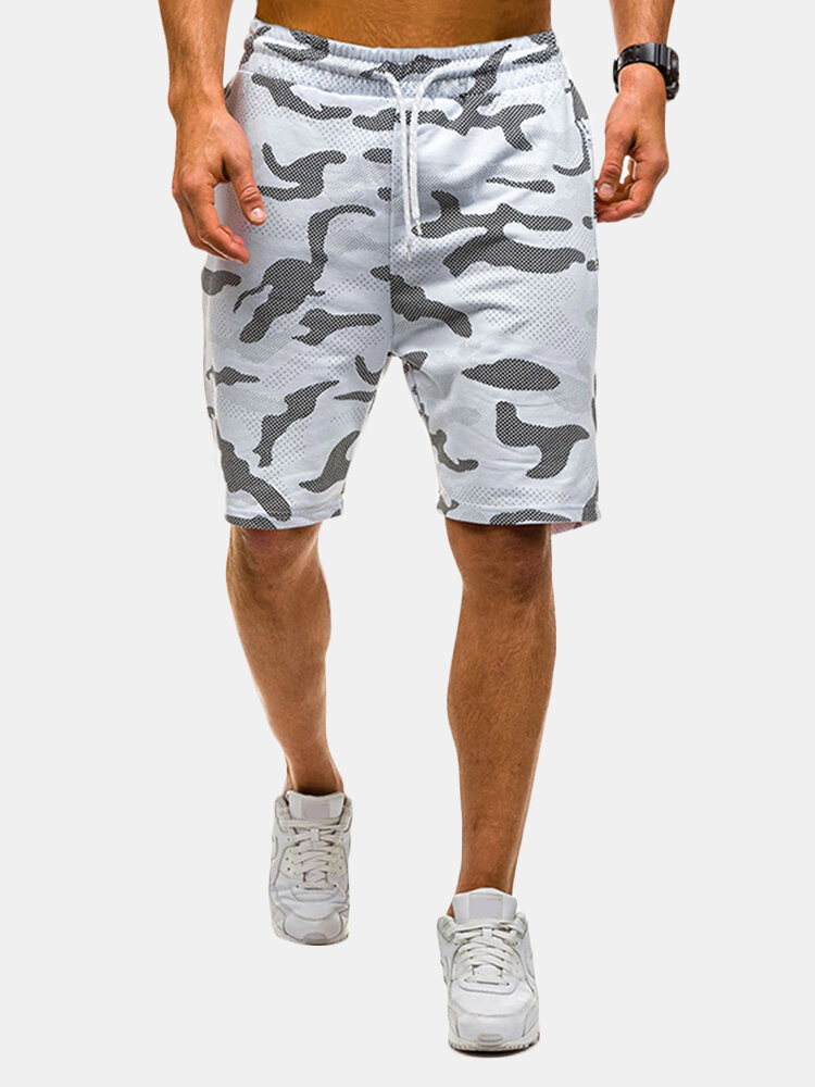 Best Mens Summer Cotton Breathable Camo Printed Casual Jogger Shorts You Can Buy