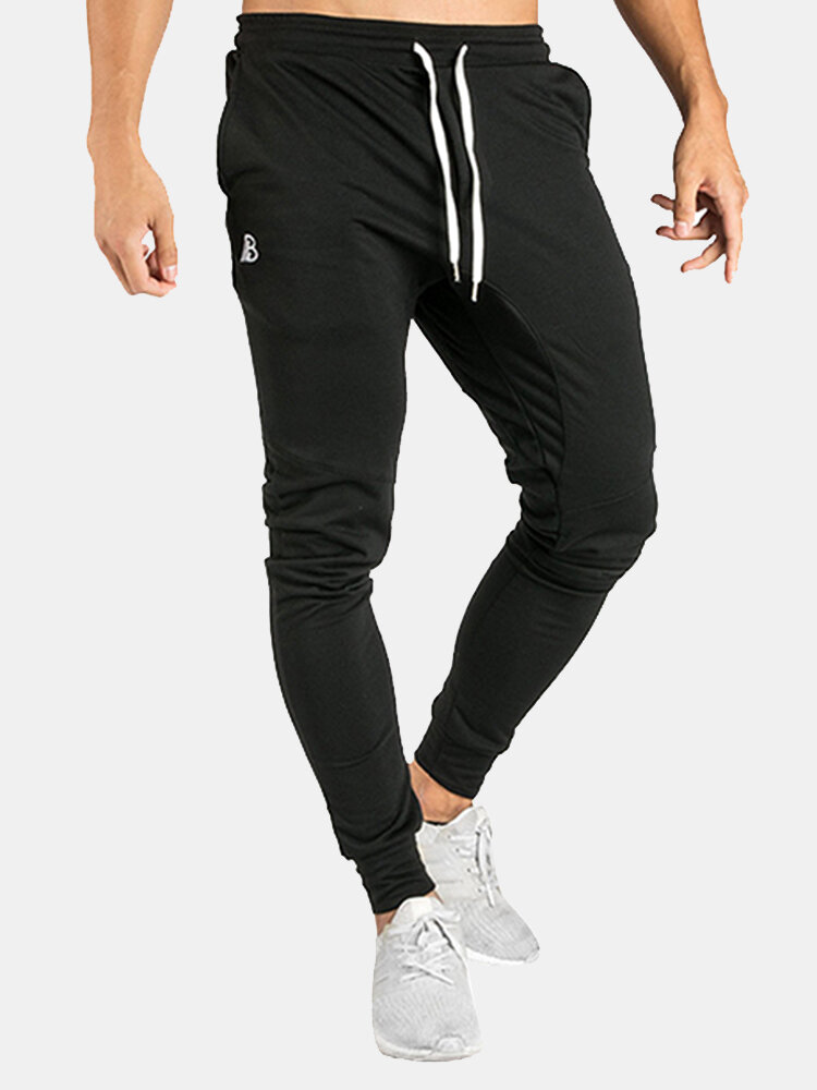 Best Mens Drawstring Elastic Waist Slim Fit Fitness Running Casual Sport Pants You Can Buy