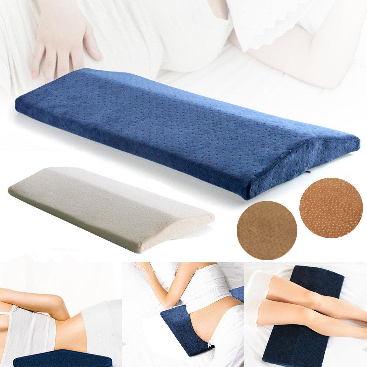 Memory Foam Sleeping Lumbar Pillow Waist Back Support Pad ...