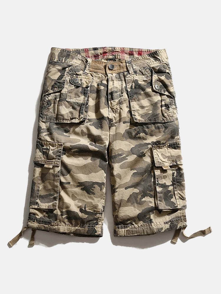 Best Summer Casual Camouflage Multi-Pocket Cotton Loose Fit Plus Size Cargo Shorts For Men You Can Buy