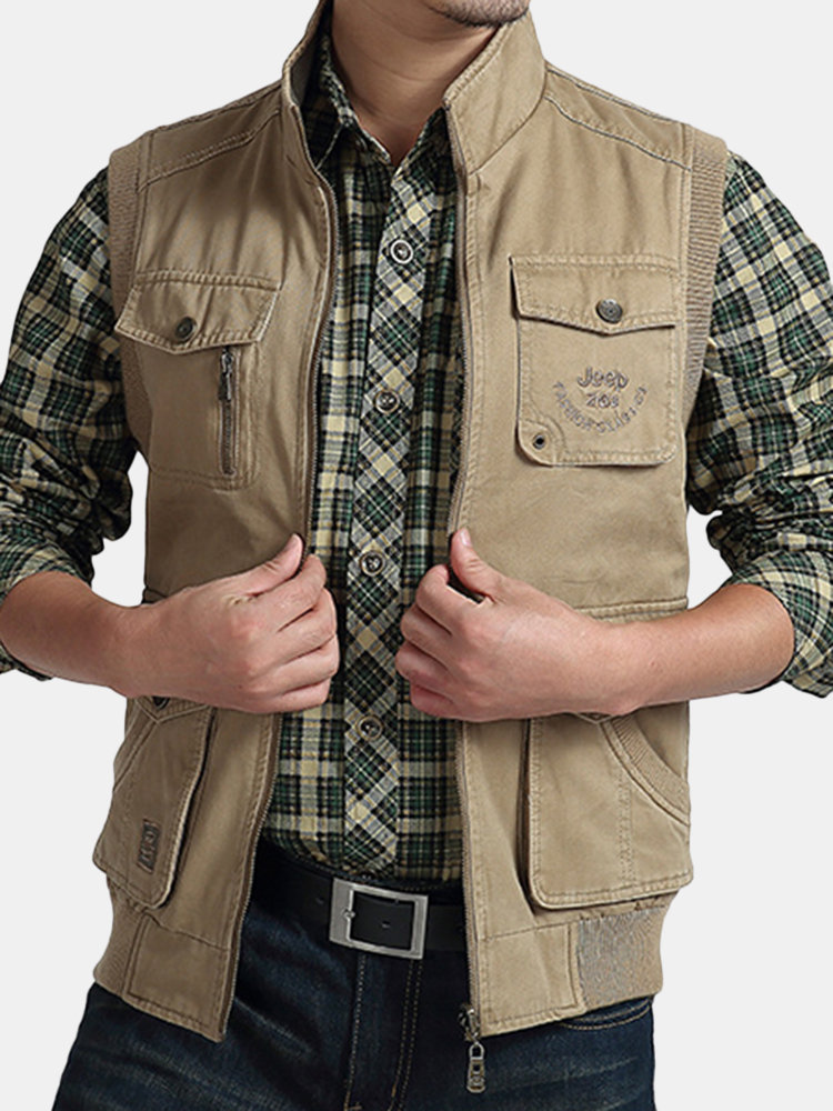 Best Plus Size Casual Outdoor Washed Double Sided Wear Multi Functions Vests for Men You Can Buy