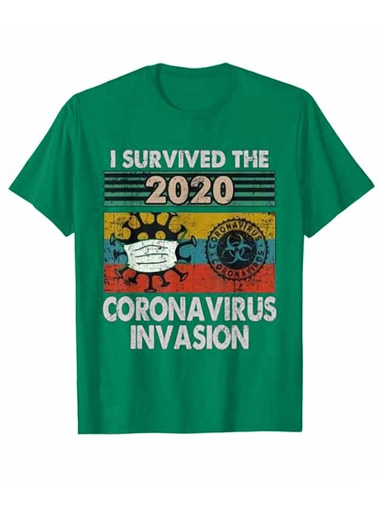 Best Funnny Cartoon Print Short Sleeve Casual T-shirt You Can Buy