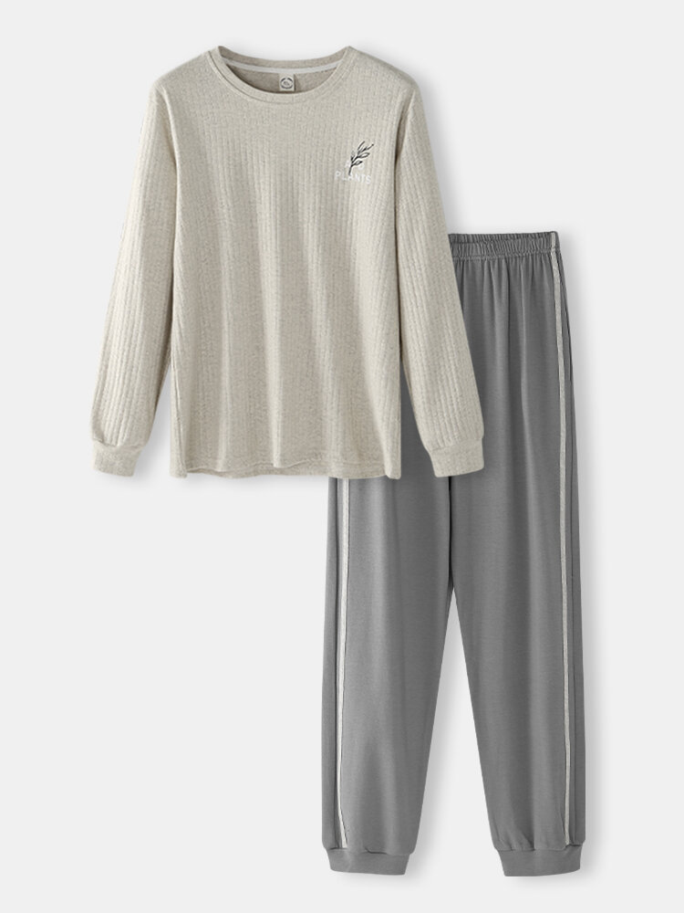 Best Men Color Block Two Pieces Co-ords Sets Lounge Long Sleeve & Jogger Pant Outfits With Pockets You Can Buy