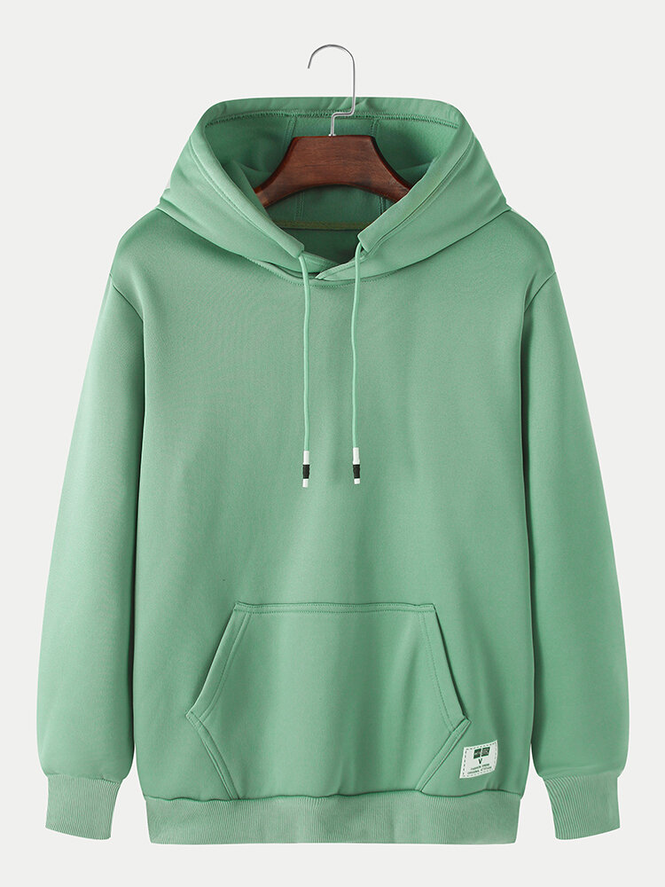 Best Mens Solid Casual Loose Drawstring Pullover Hoodies With Kangaroo Pocket You Can Buy