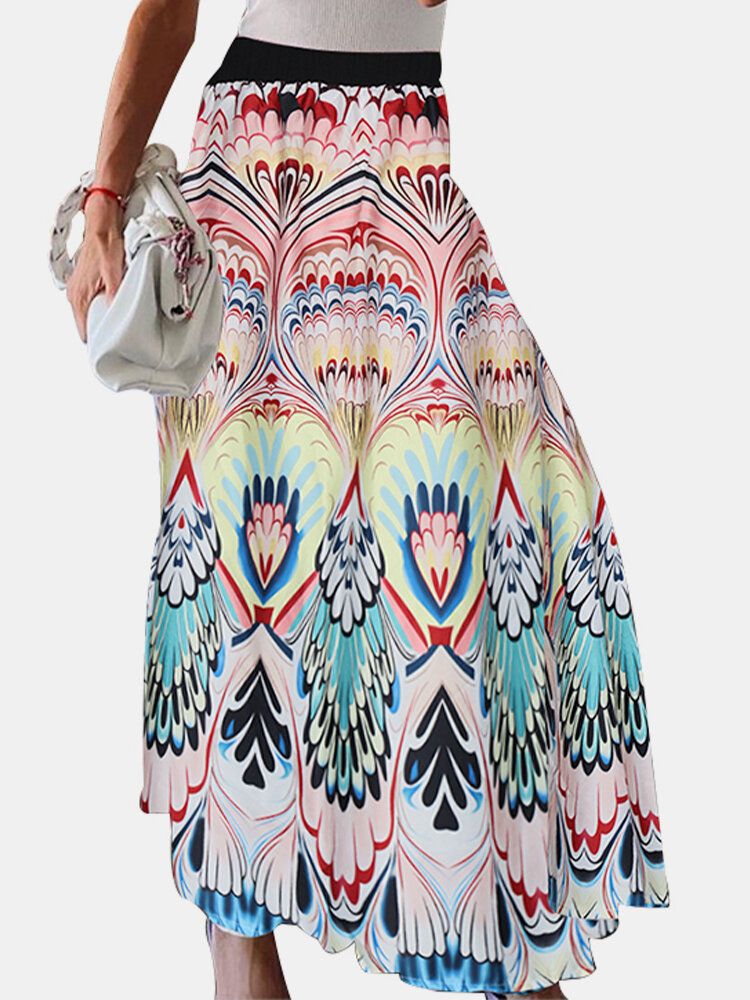 Best High Waist Bohemian Print Maxi Skirt For Women You Can Buy