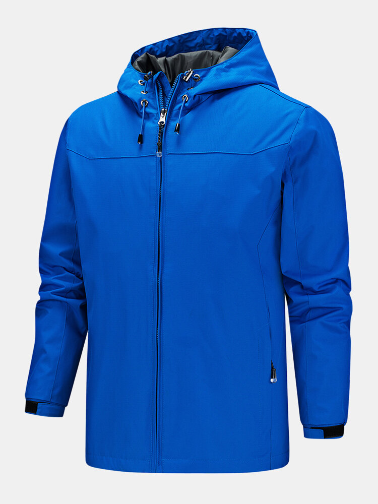 Best Mens Outdoor Sport Waterproof Quick Dry Zipper Pocket Drawstring Hooded Jackets You Can Buy