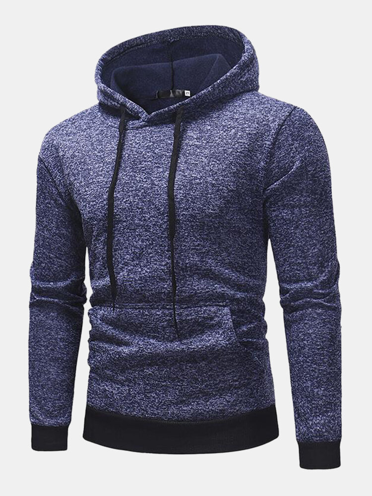 Best Mens Cotton Flocking Loose Drawstring Hoodies With Pouch Pocket You Can Buy