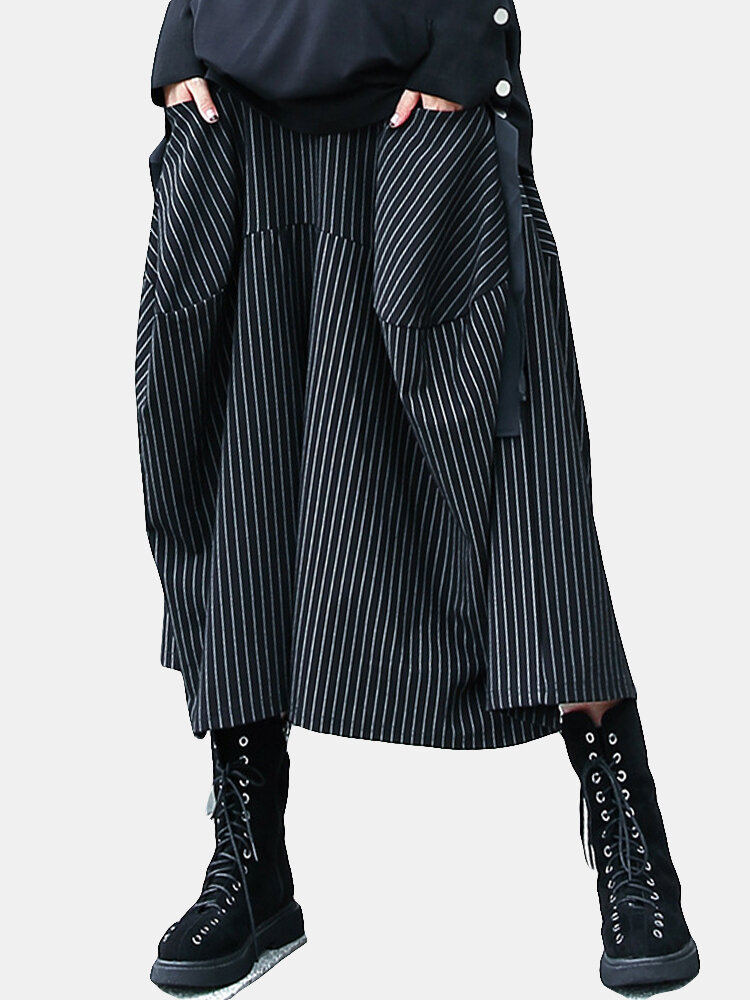 Best Stripe Loose Elastic Waist Casual Harem Pants For Women You Can Buy