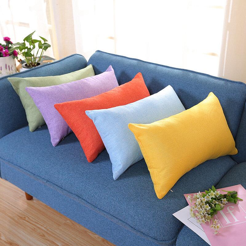 newchic pillowcase rectangular cotton and linen pillow color nap pillow plus long sofa car waist pillowcase from newchic accuweather