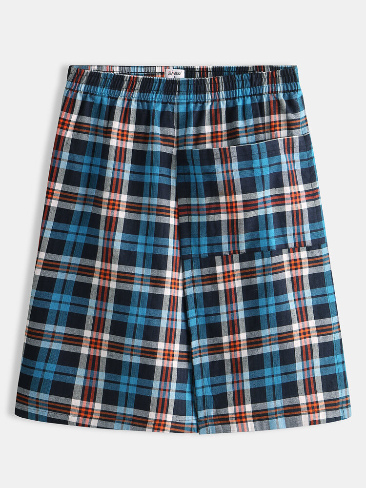 Best Mens Plaid Home Pajamas Nightdress Cotton Casual Bath Skirts You Can Buy