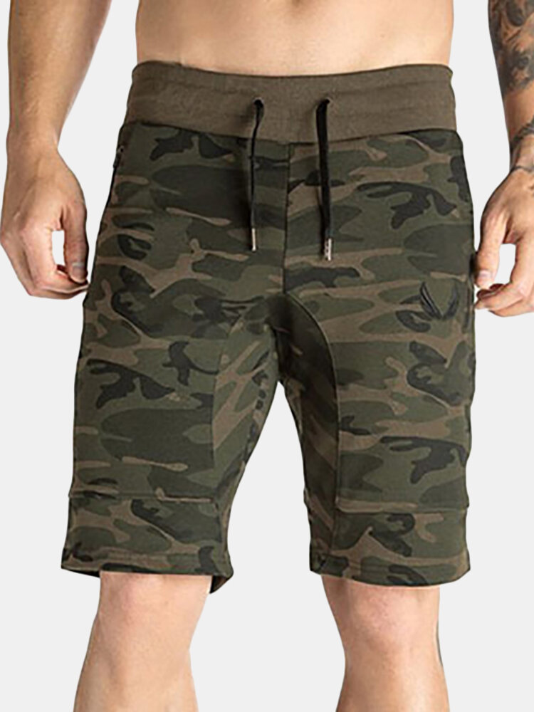 Best Mens Summer Breathable Camo Printed Drawstring Casual Running Training Sport Shorts You Can Buy
