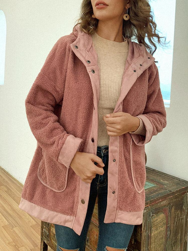 Best Patchwork Fleece Hooded Plus Size Women Winter Coat You Can Buy