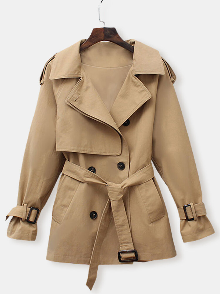 Best Solid Color Windbreaker Trench Coats Jacket For Women You Can Buy