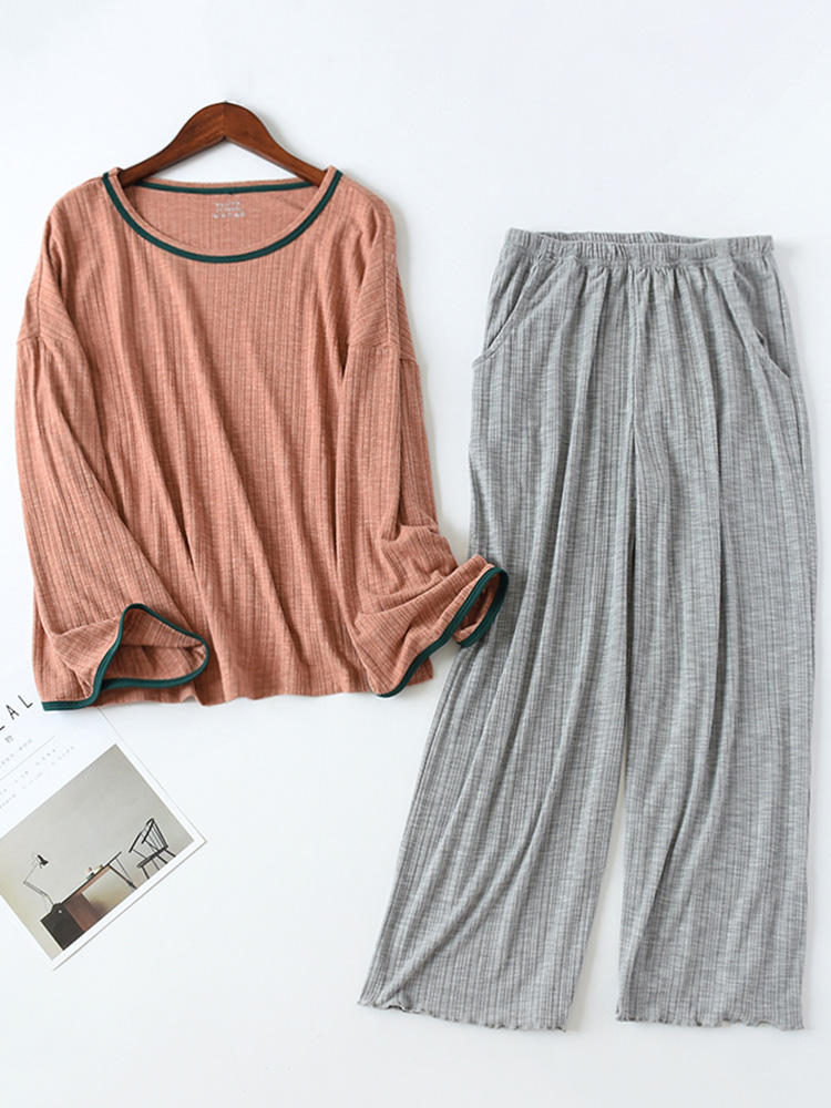 Best Pajamas Long Sets Cotton Striped Soft Casual Sleepwear For Winter Spring You Can Buy